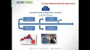 Avrupa Merkez Bankası Toplantısı Öncesi Dikkat Edilmesi Gerekenler